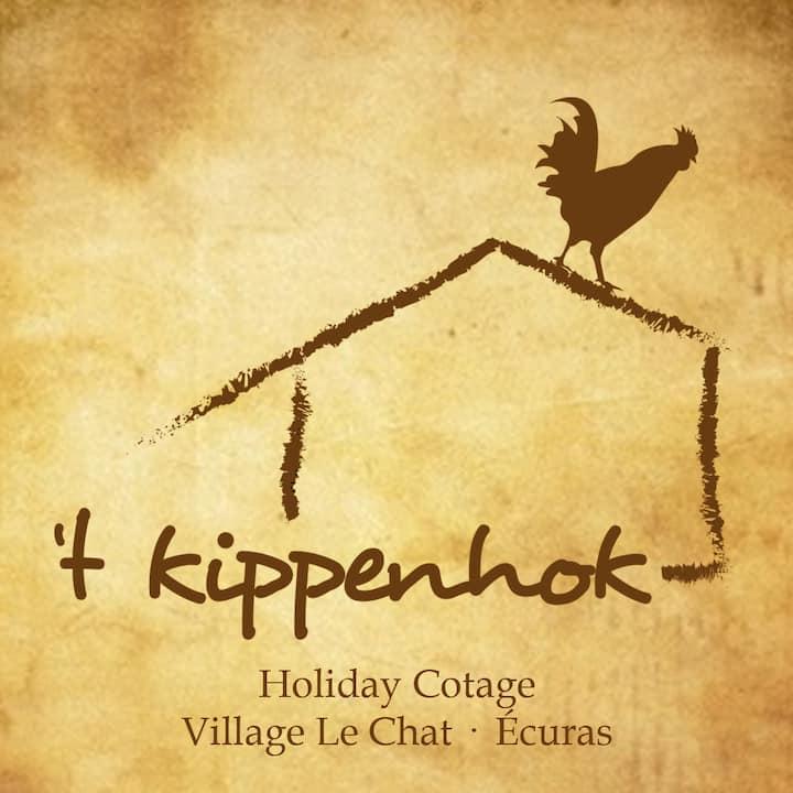 """6 pers. bungalow """"Het Kippenhok""""  huisdier gratis"""