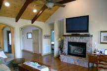 """Family Room Access, 60"""" screen tv, Gas fireplace"""