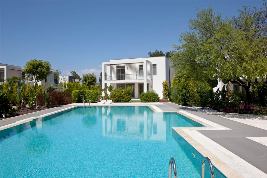 There are two swimming pools that are 130 sqm and 105 sqm in the site