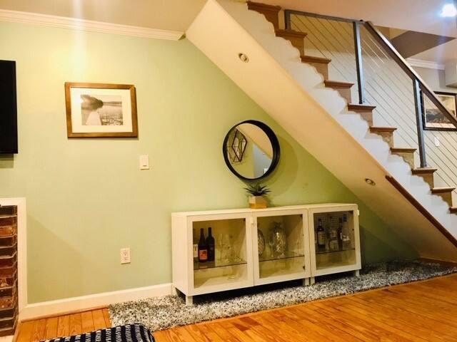 Head upstairs to the second floor bedroom suite