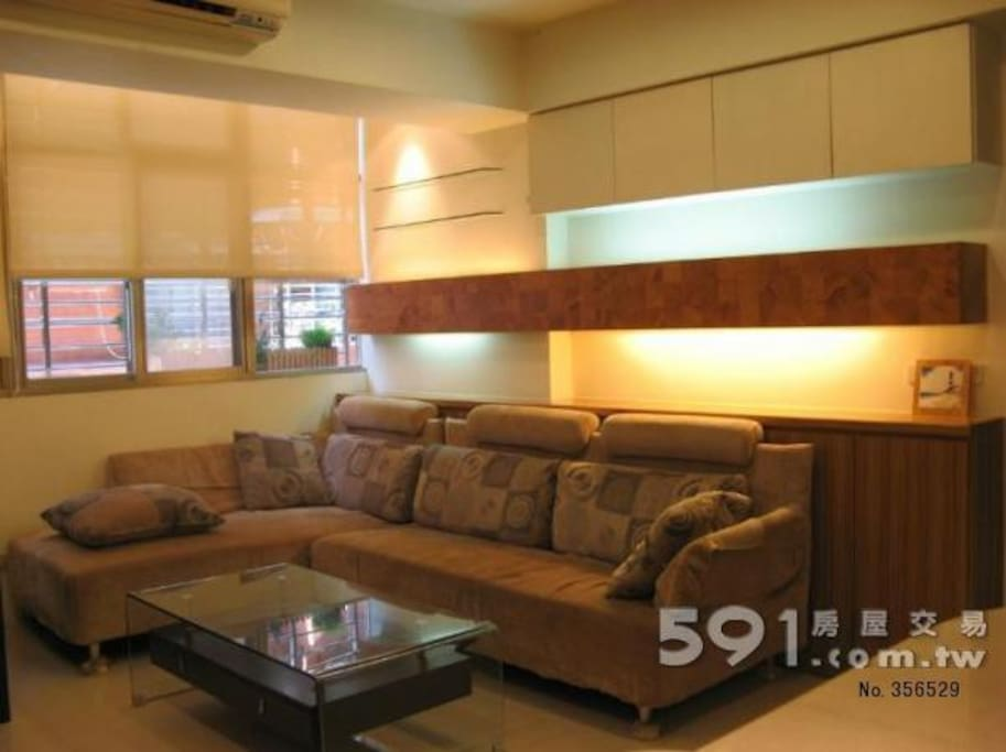 Bring & spacious living room with super comfy large sofa