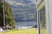 Looking down to Loch Goil from the Holiday Cottage