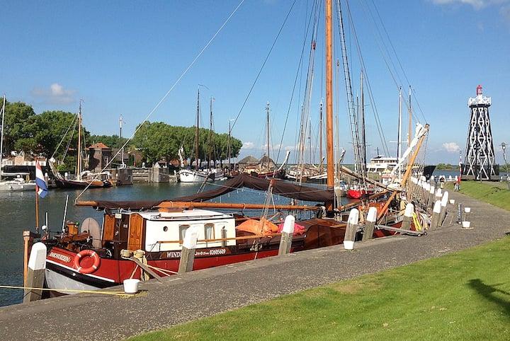 B+B Traditional Dutch Sailing Ship in Enkhuizen