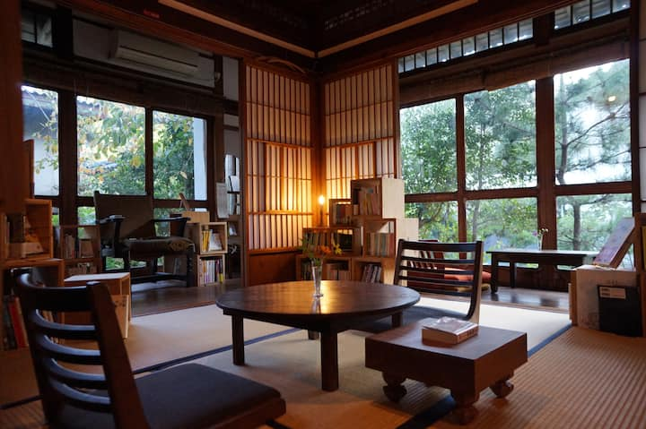 Traditional Japanese style house in onsen resort