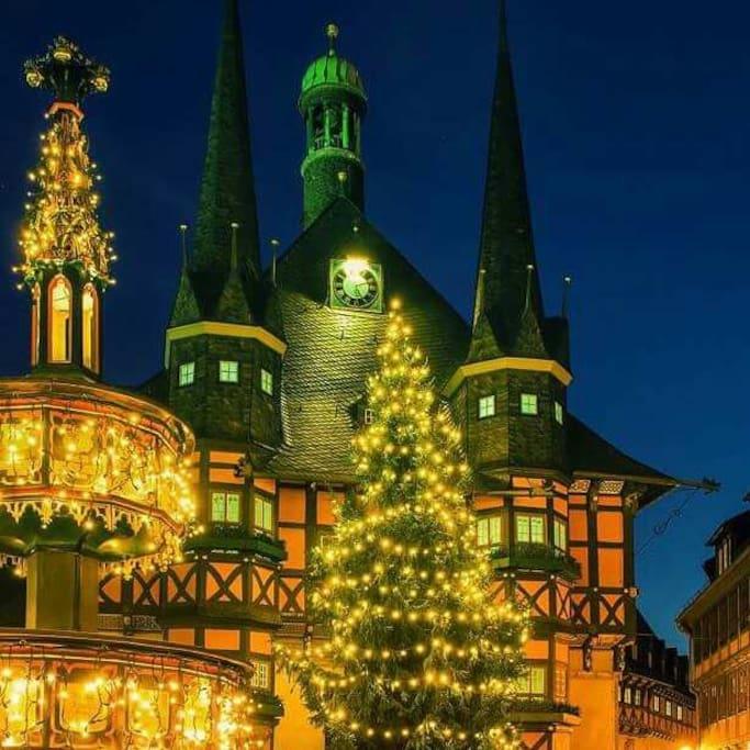 Unser Rathaus zum Weihnachtsfest