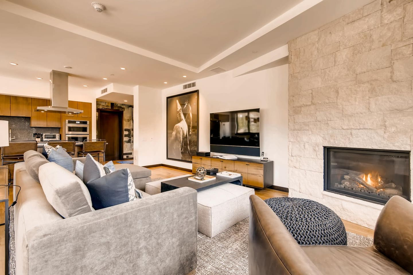 Living Room - Gas Fire Place - TV