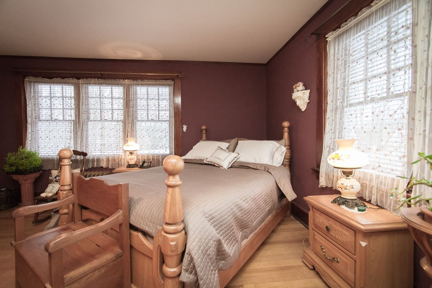 """This is the Master bedroom """"MichThé""""."""