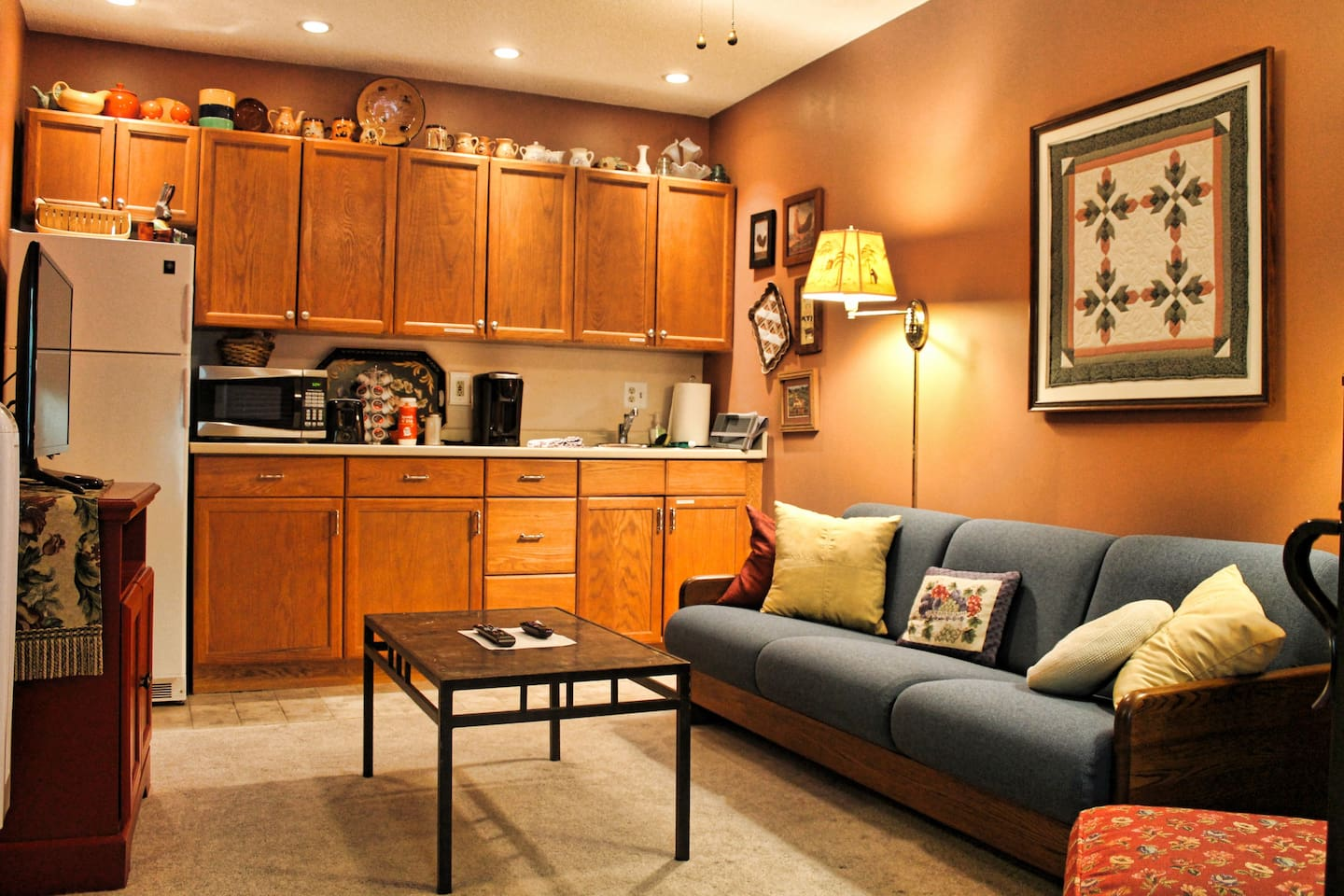 Comfort and convenience in a private suite