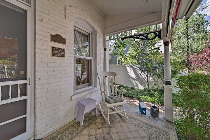 Sip your morning coffee on the front porch of this historic home.