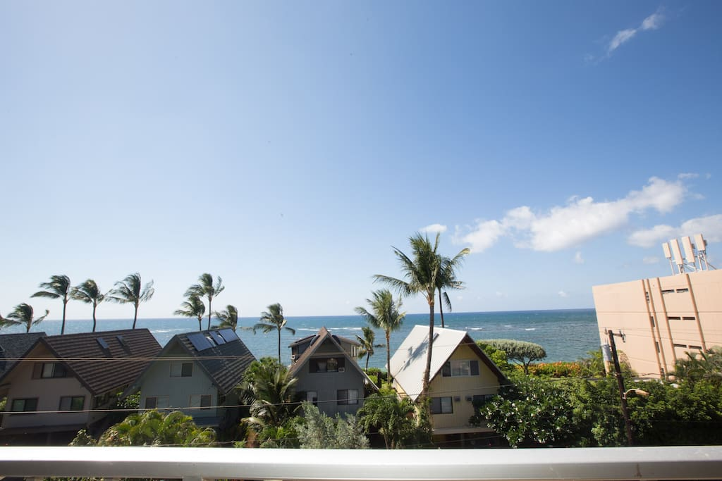 full ocean view from your lanai