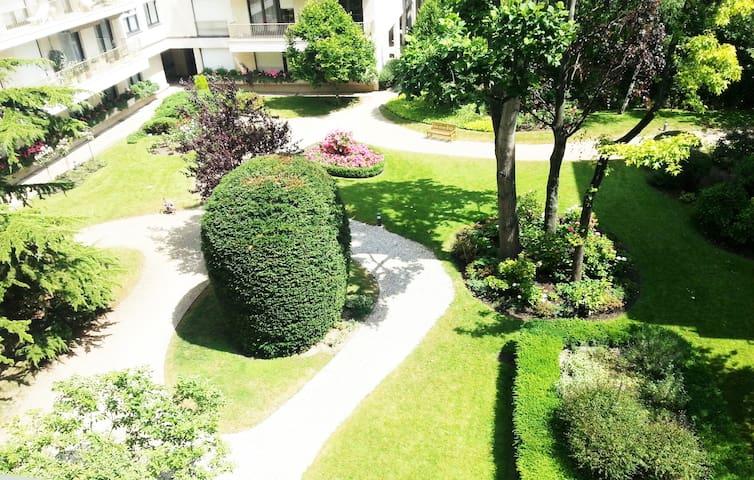 COSY AND QUITE GARDEN STUDIO FLAT - Neuilly-sur-Seine - Apto. en complejo residencial