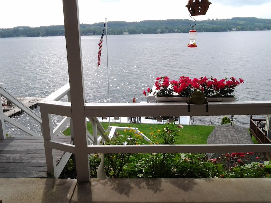 The view of lake from patio