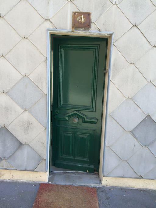 Porte d'entrée côté rue - Entrance door street side