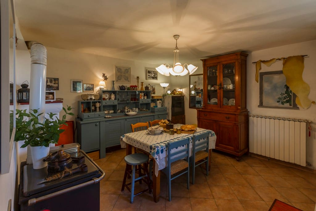 our kitchen Apartment Riccardo. the place where everybody gets a warm welcome a hug and shares sugar, salt or nice talking and emotions!