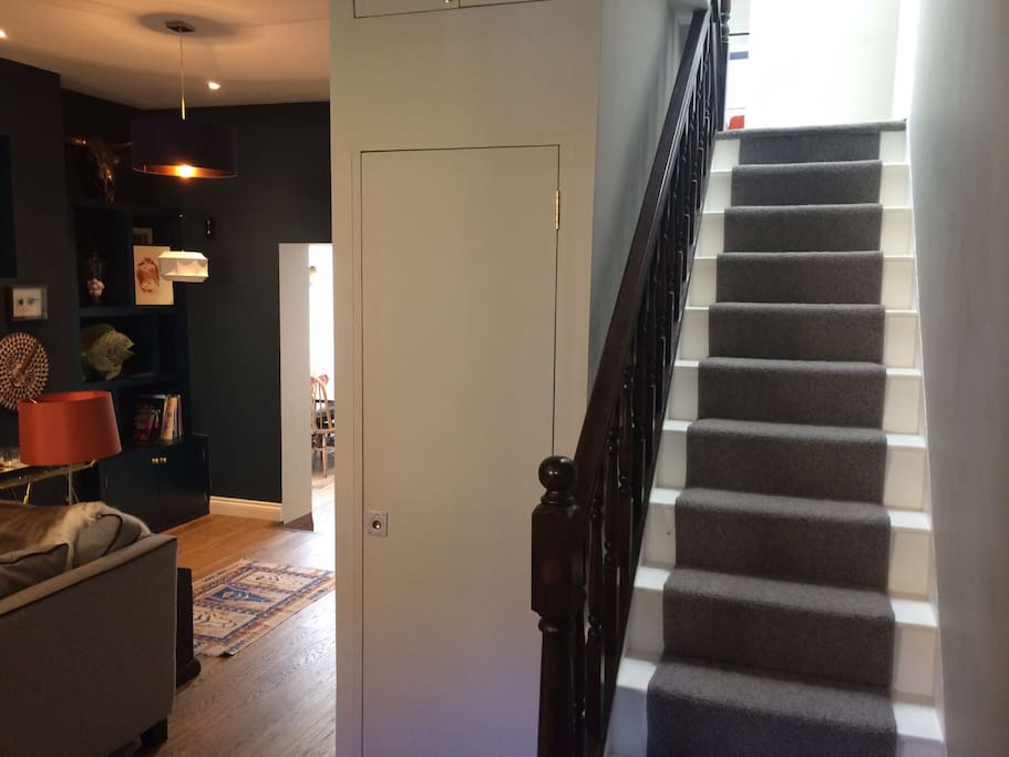 lounge and stair case
