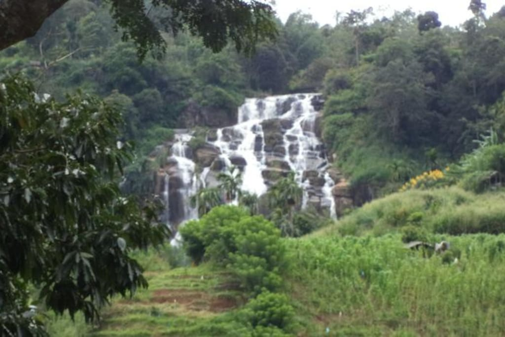 balcony view to the waterfall