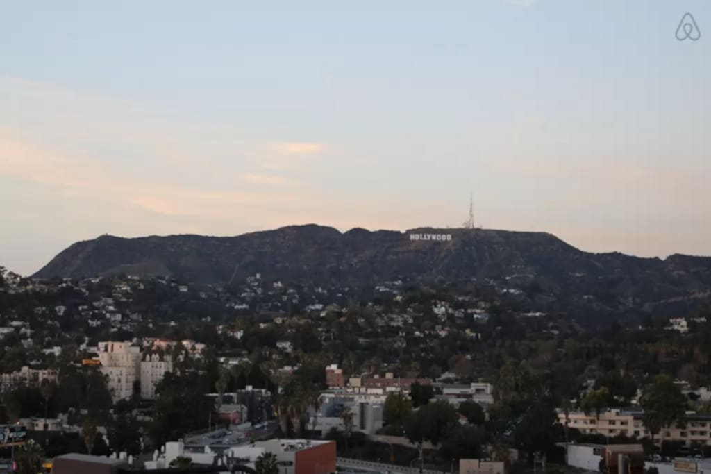 A favorite feature of this high-rise is the view of the famous Hollywood sign!! (A must see while in LA)