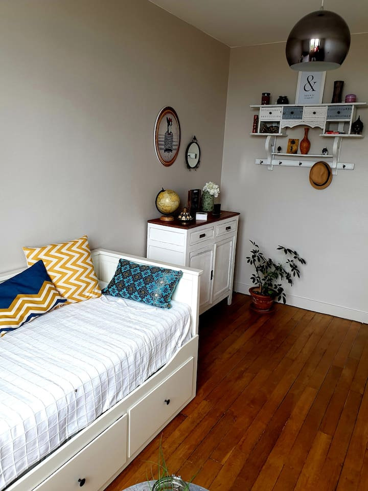 Cozy guest room - Orléans centre 10min by feet