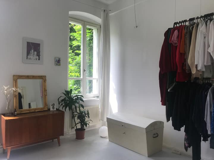 Bright and sunny room in spacious flat (central)