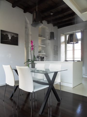 Loft design in the historic center - Turin - Apartment
