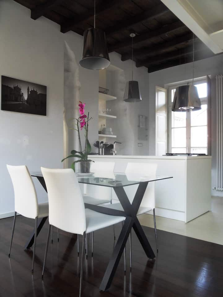 Loft design in the historic center