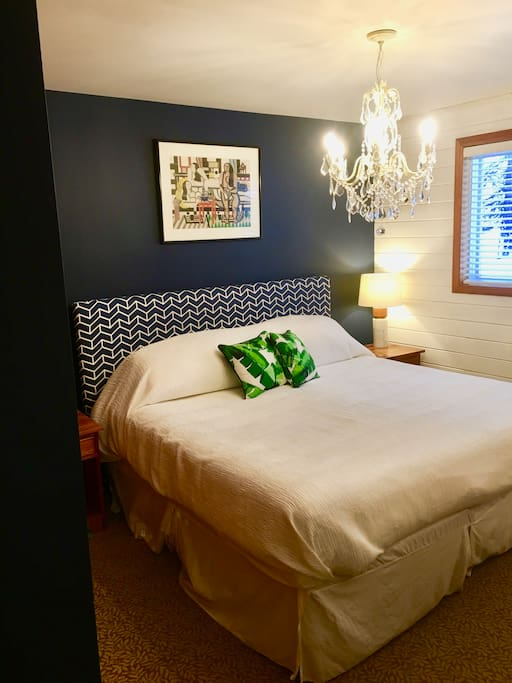 Master bedroom with king bed, separate heat control, large closets and dressers.