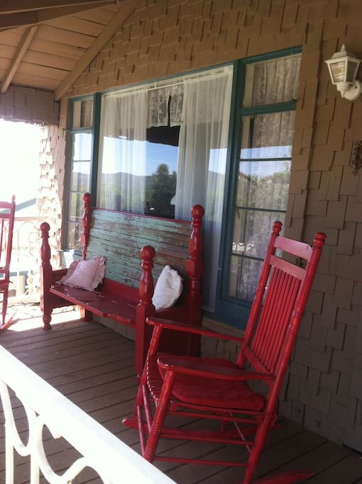 Covered front porch ... perfect place for relaxing with a cup of coffee.