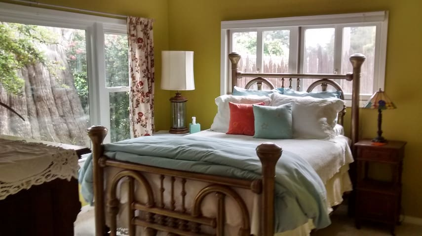 Large Bedroom 2 w/partial view of golf course, but very private.