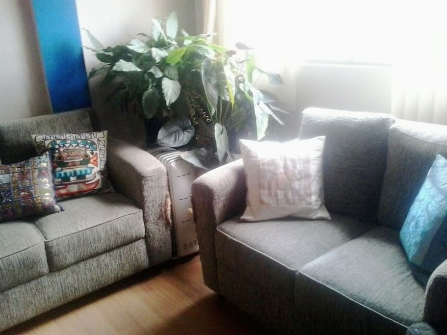 Confortable Couch with sun light