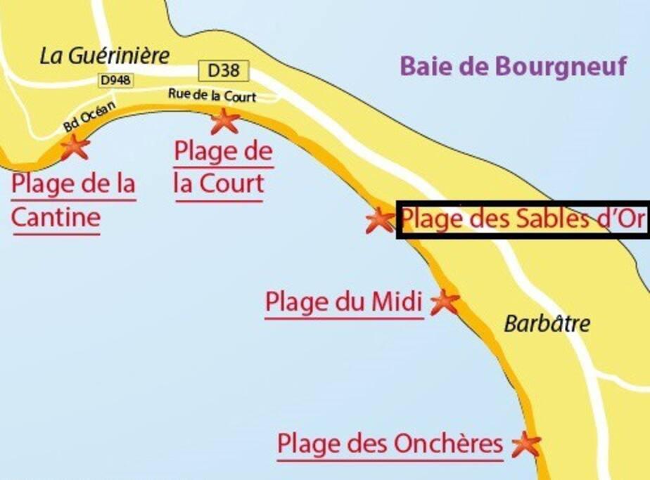 nous sommes situés au centre de l'île, proche des lieux touristiques