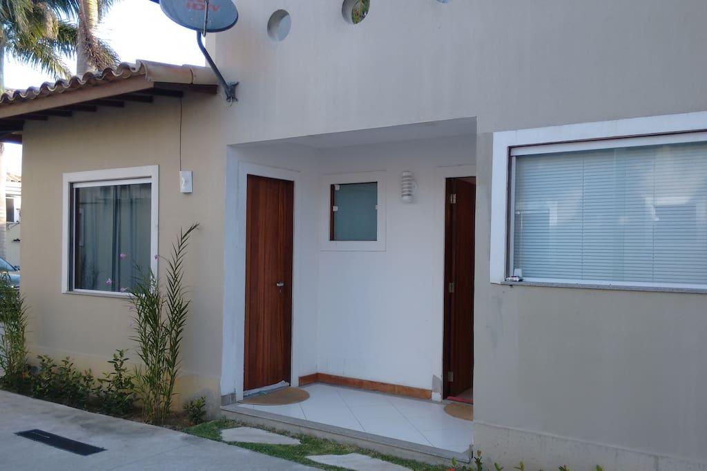 Entrada da Casa. É a primeira Casa do Condomínio. Casa no. 19
