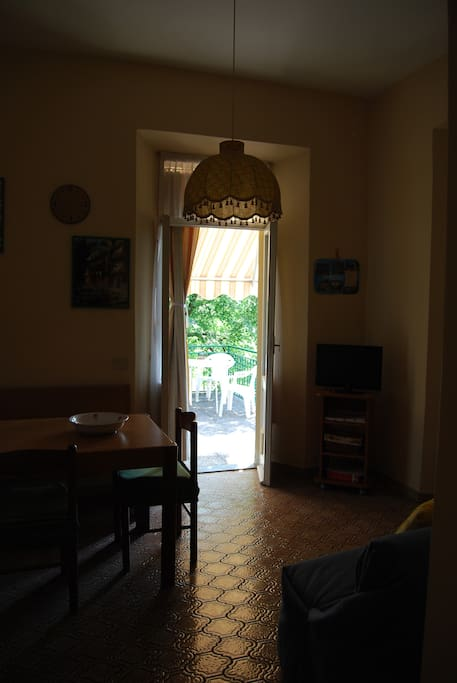 dining-room with terrace