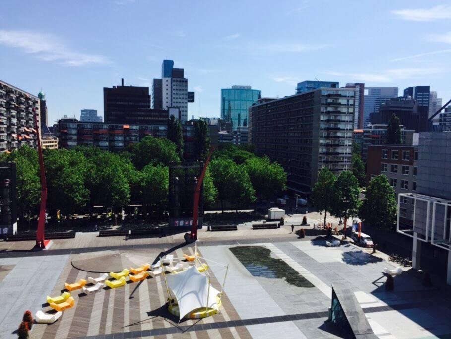 App met uitzicht op schouwburgplein appartements louer for Bios rotterdam