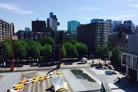 App met uitzicht op schouwburgplein - Rotterdam - Apartment