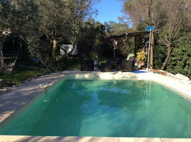 Mazet piscine chauffée en garrigue - Nîmes - Casa