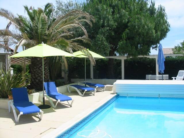T2 dans villa avec piscine - Colombiers - Apartamento