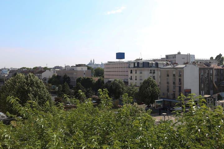 "Nice 75 square flat view Sacré Coeur"""