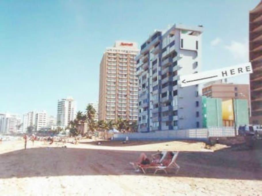 Stella Maris Condominium next to the Marriott Hotel on Condado Beach