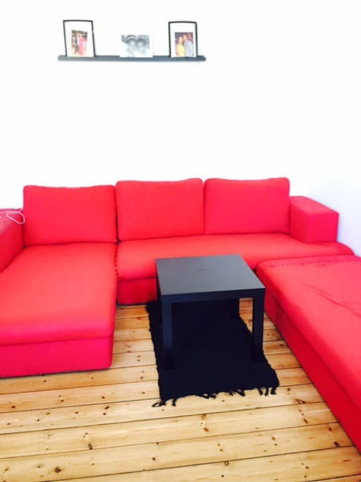 This is the sitting room with the large sofa,