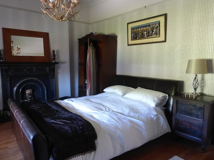 Modern bedroom in period house