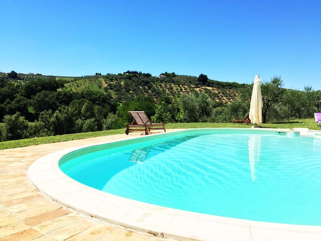 Villas country with pool near sea and mountain