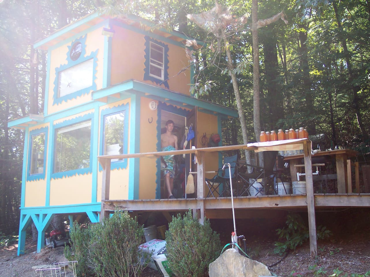 the treehouse/cabin