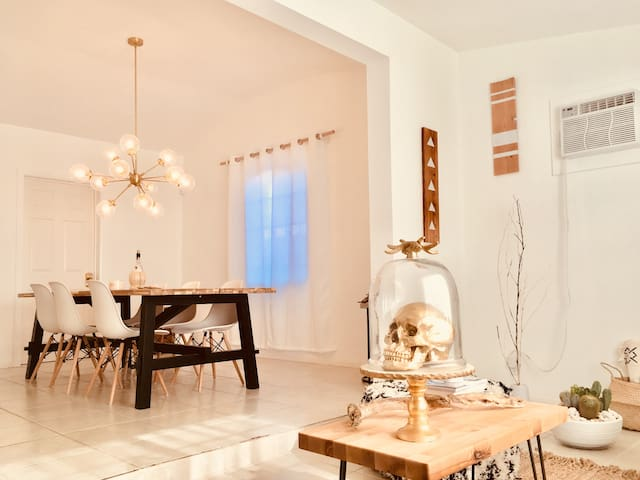 White Cactus House - Bohemian Desert Luxe