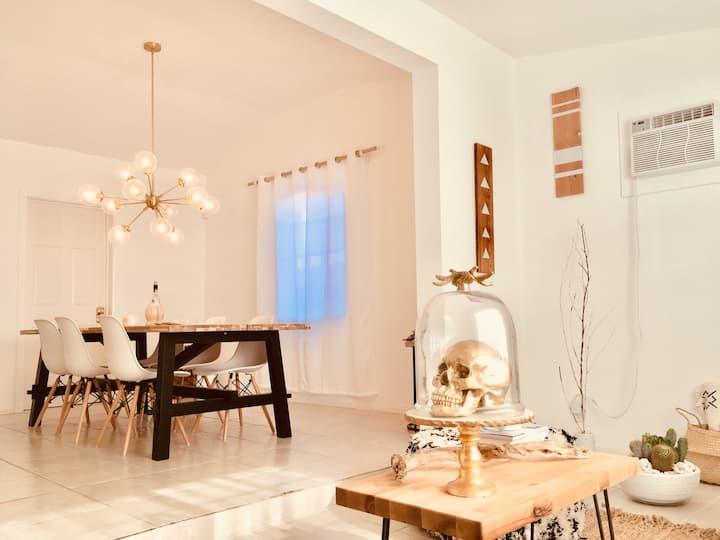 White Cactus House & Tipi Garden -Boho Desert Luxe