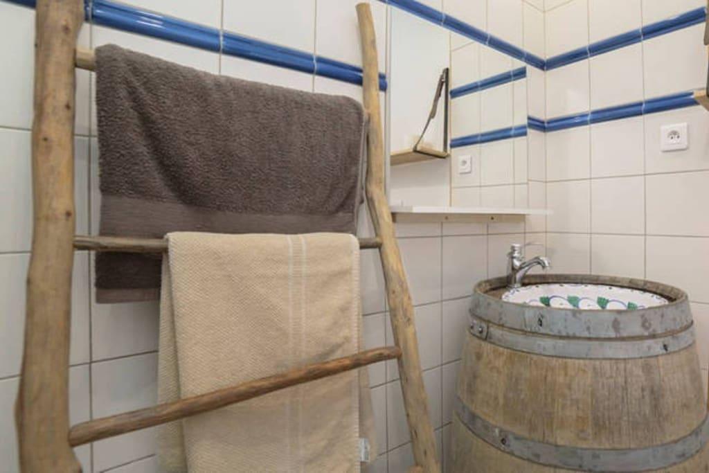 salle de bain avec toilette sèche