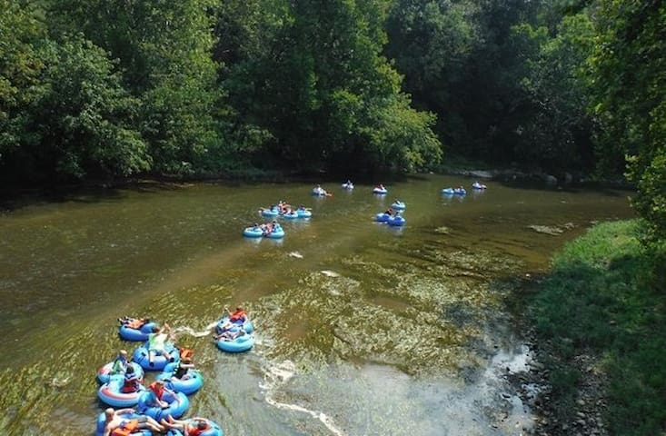 nearby tubing at the New River