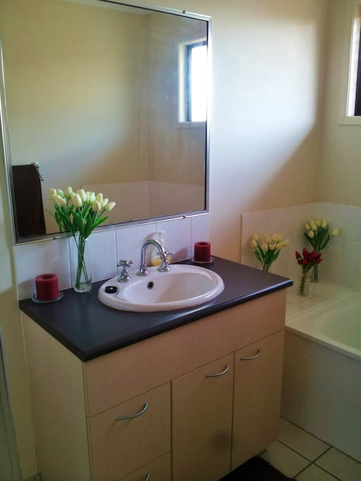 Your own private bathroom with a separate shower and bath!