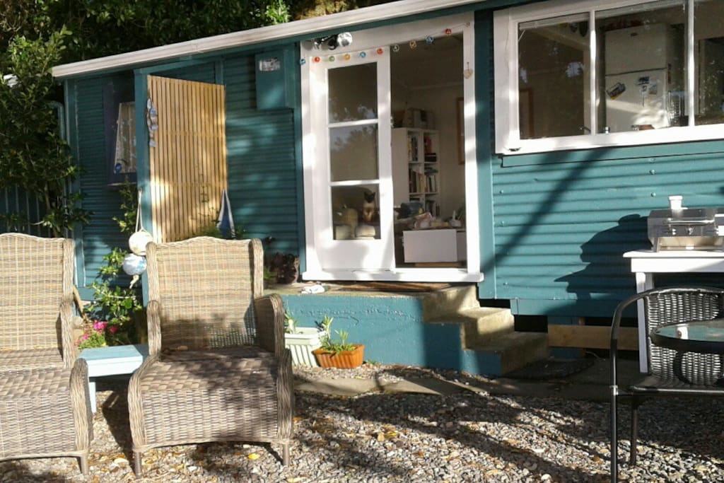 The cottage sits just 10 metres from the water.
