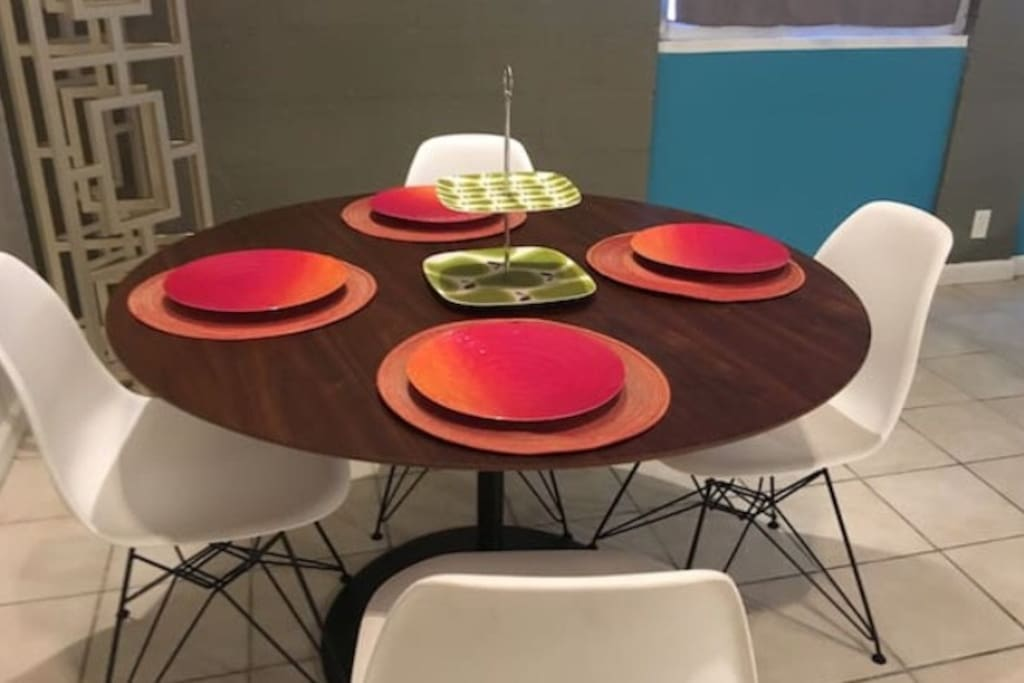 Dining table for 4 guests.