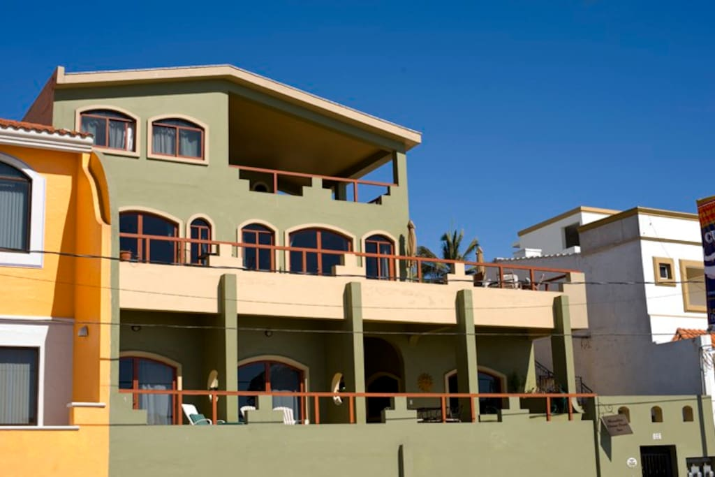 Front of house facing the ocean + boardwalk